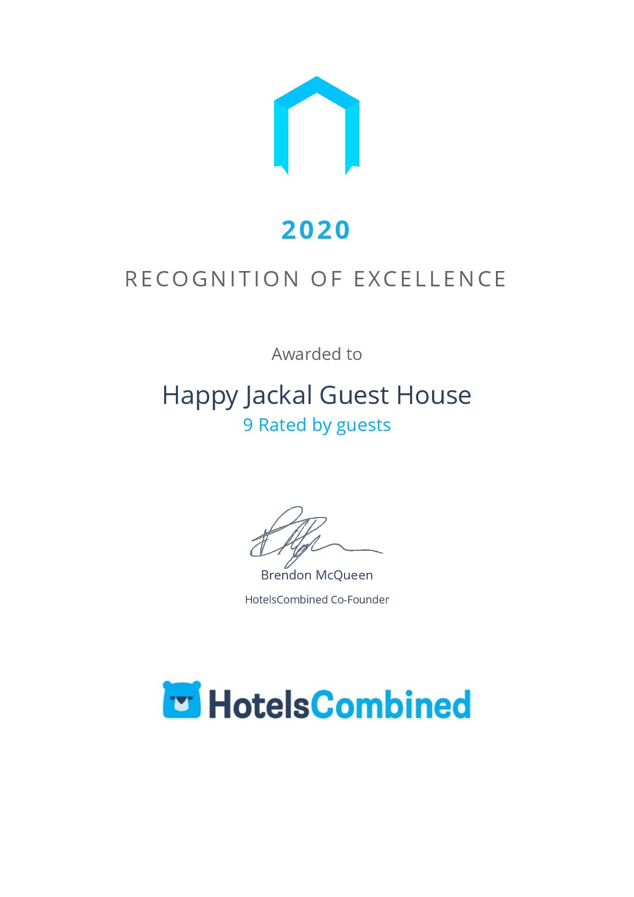 HotelsCombined Happy Jackal Rating